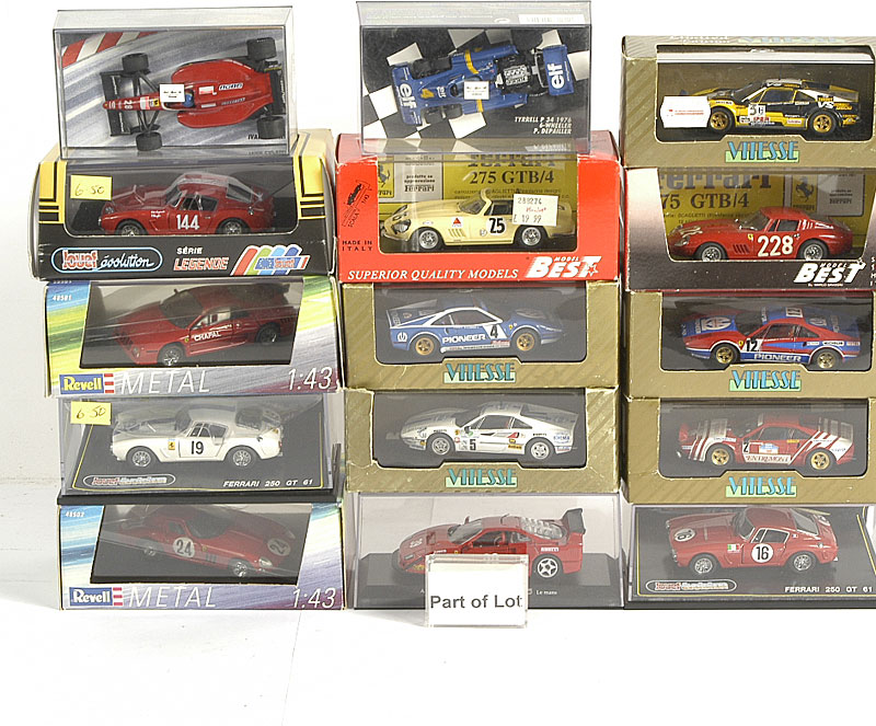 Ferrari models by Vitesse, Revel, Solido, Artmodel and others including 308 GRB, 375 F1, GTO and others similar