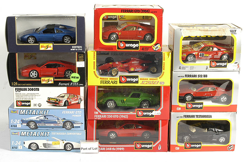 Ferrari models by Bburago, Maisto and others