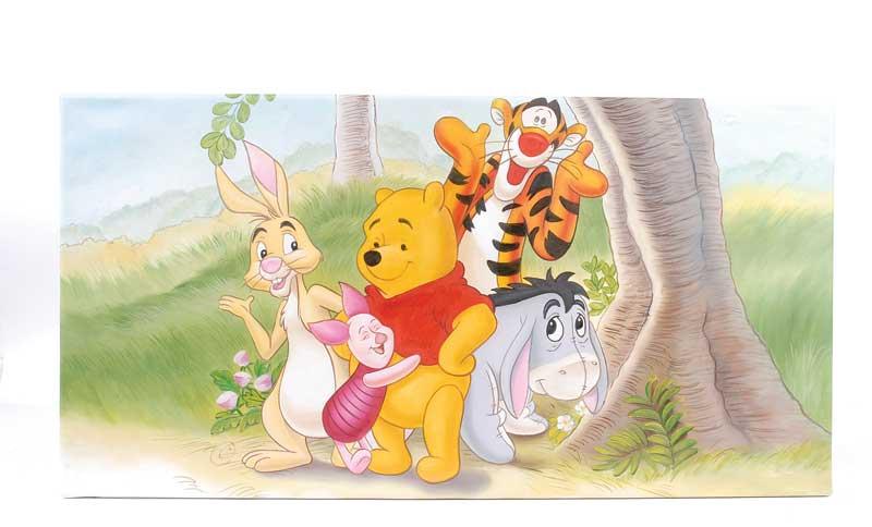 winnie the pooh tigger eeyore piglet and rabbit pop art canvas