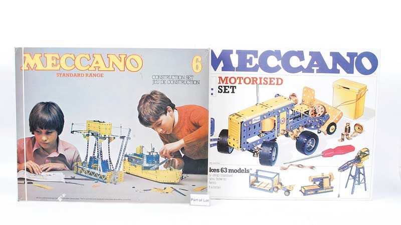 Meccano late issue Sets including Motorised Construction Set No