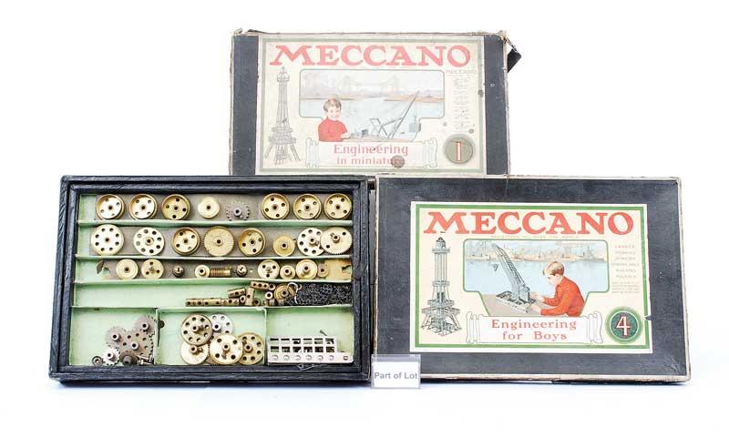 Meccano early Sets including, No