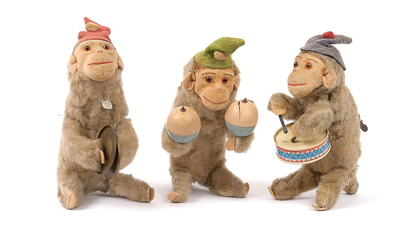 M Toys West Germany Clockwork Monkeys Lot Comprises 3 X Monkeys