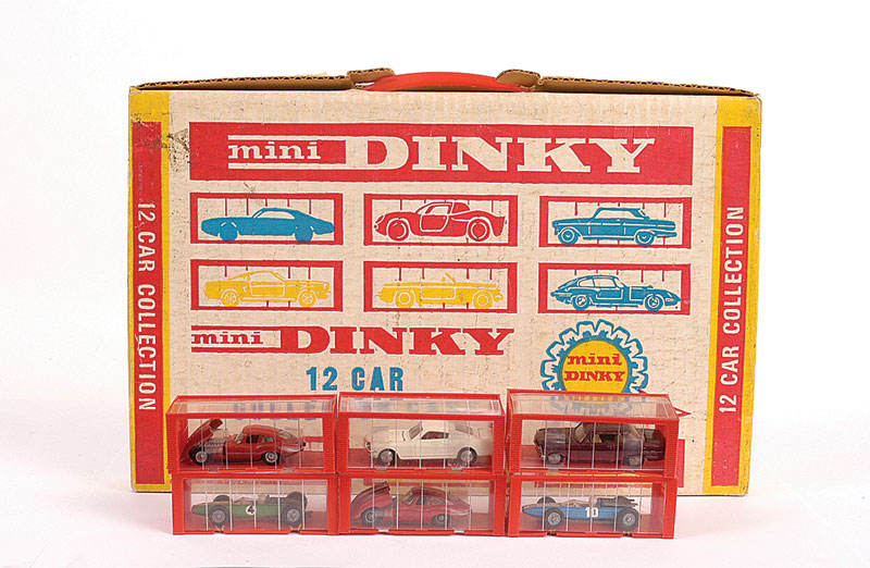 Mini Dinky Collector Case Gift Set containing 12 x various Cars including (1) No